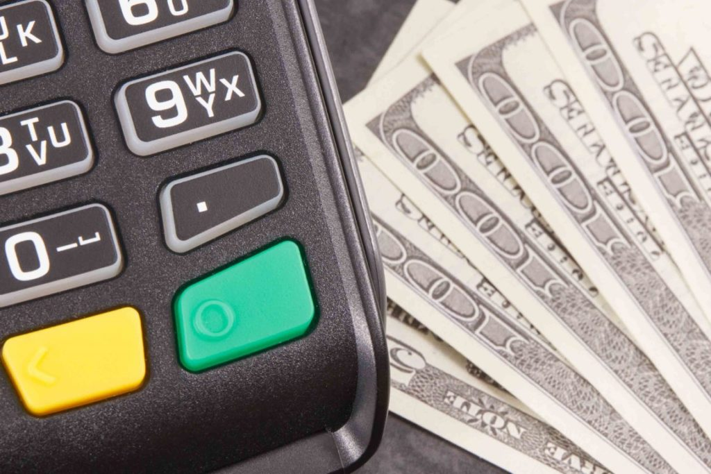 Money next to a calculator